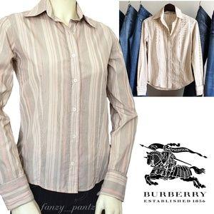 Burberry top -pinstripe button down shirt small